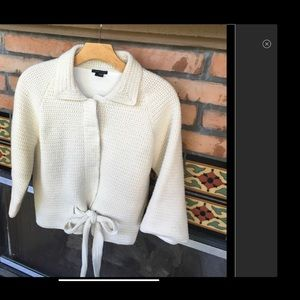 THEORY PERFECTLY CHIC WAISTED TIED SWEATER